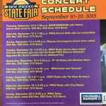 2015 New Mexico State Fair Concert Schedule